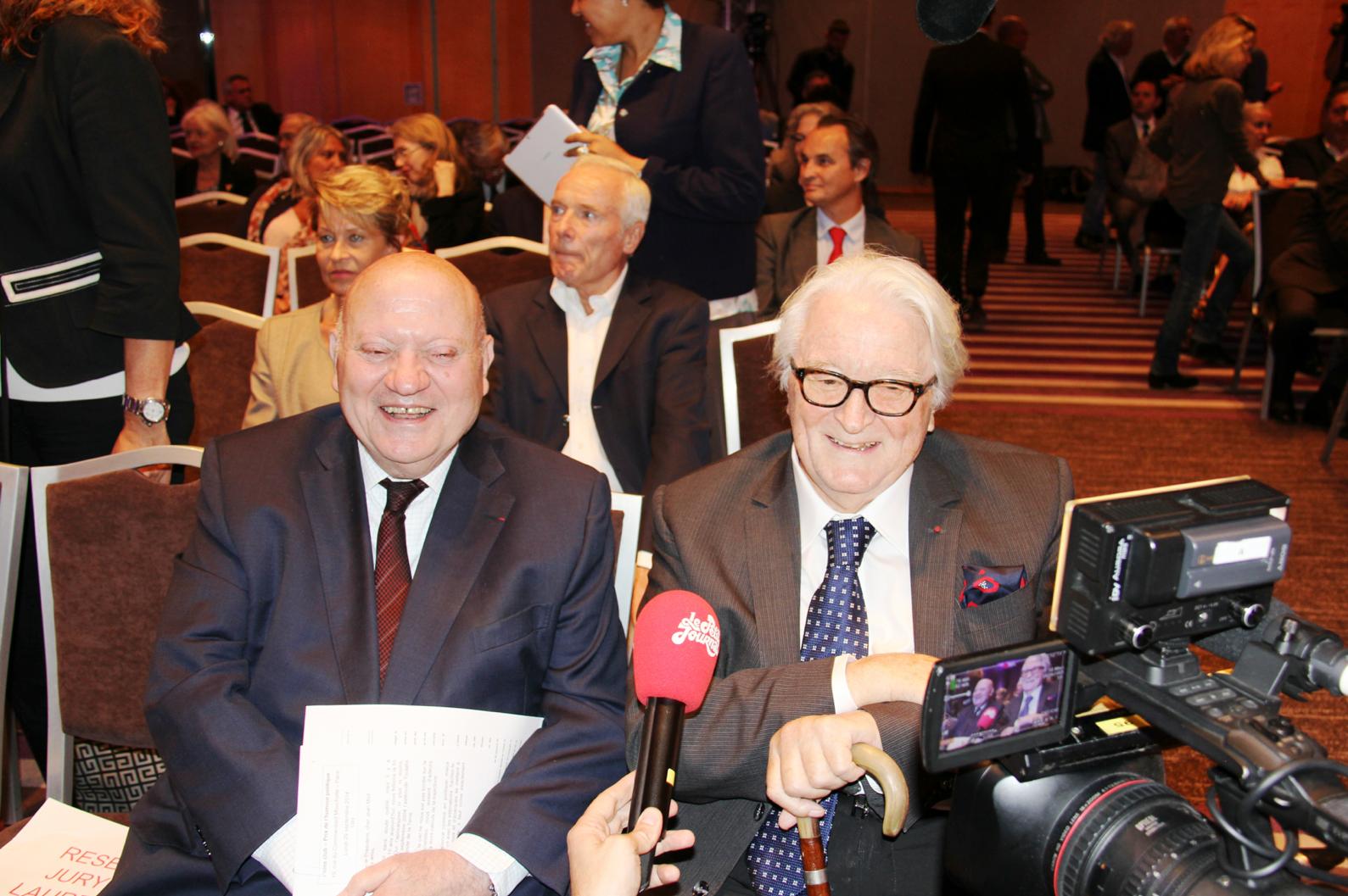 André Santini, parrain du Prix et Roland Dumas