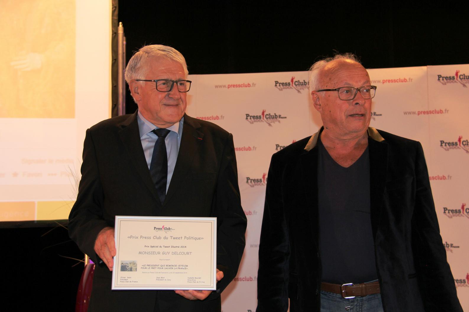 Le Député Guy Delcourt et André Bercoff