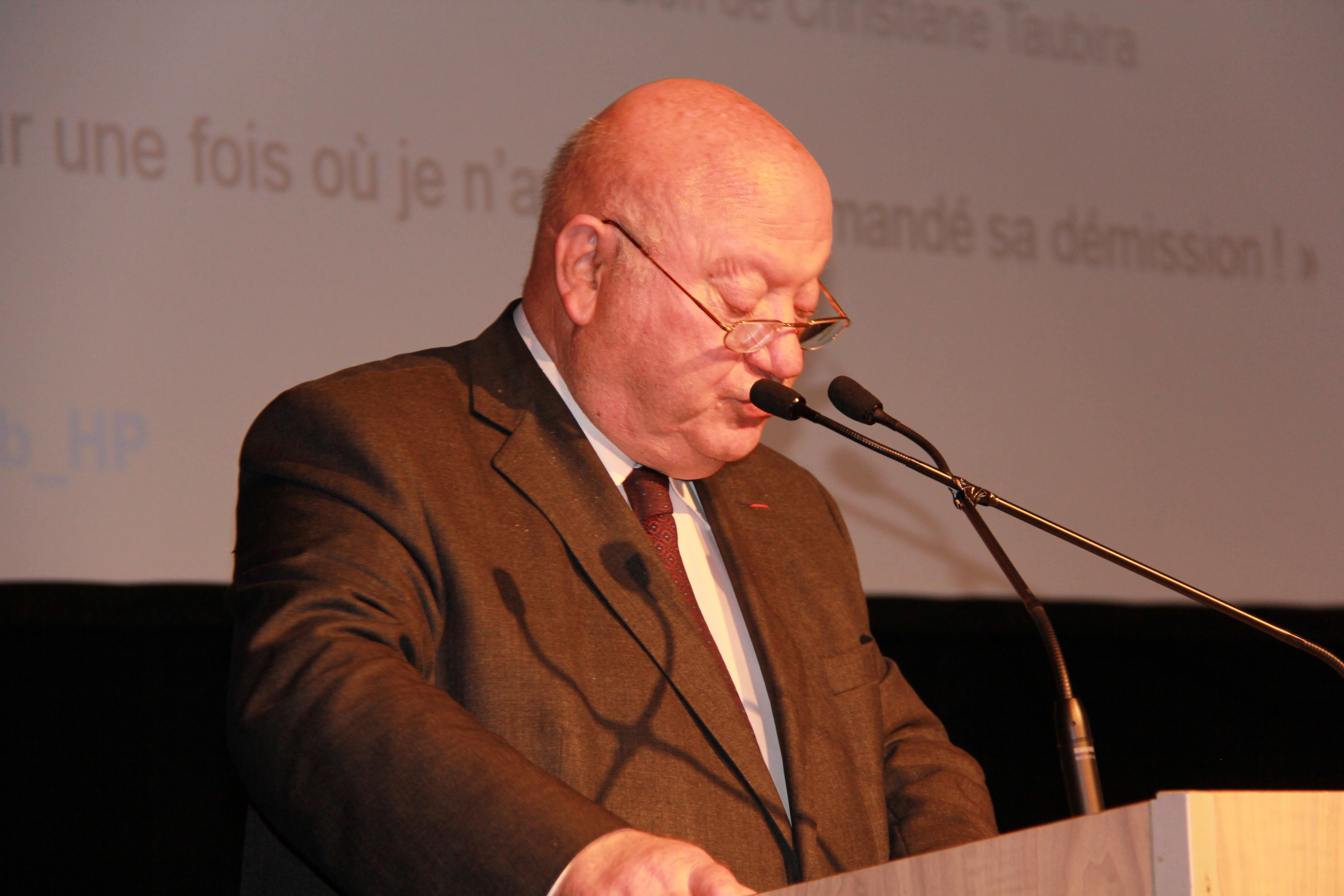 André Santini - ancien Ministre, Député-maire d'Issy-Les-Moulineaux et parrain du Prix
