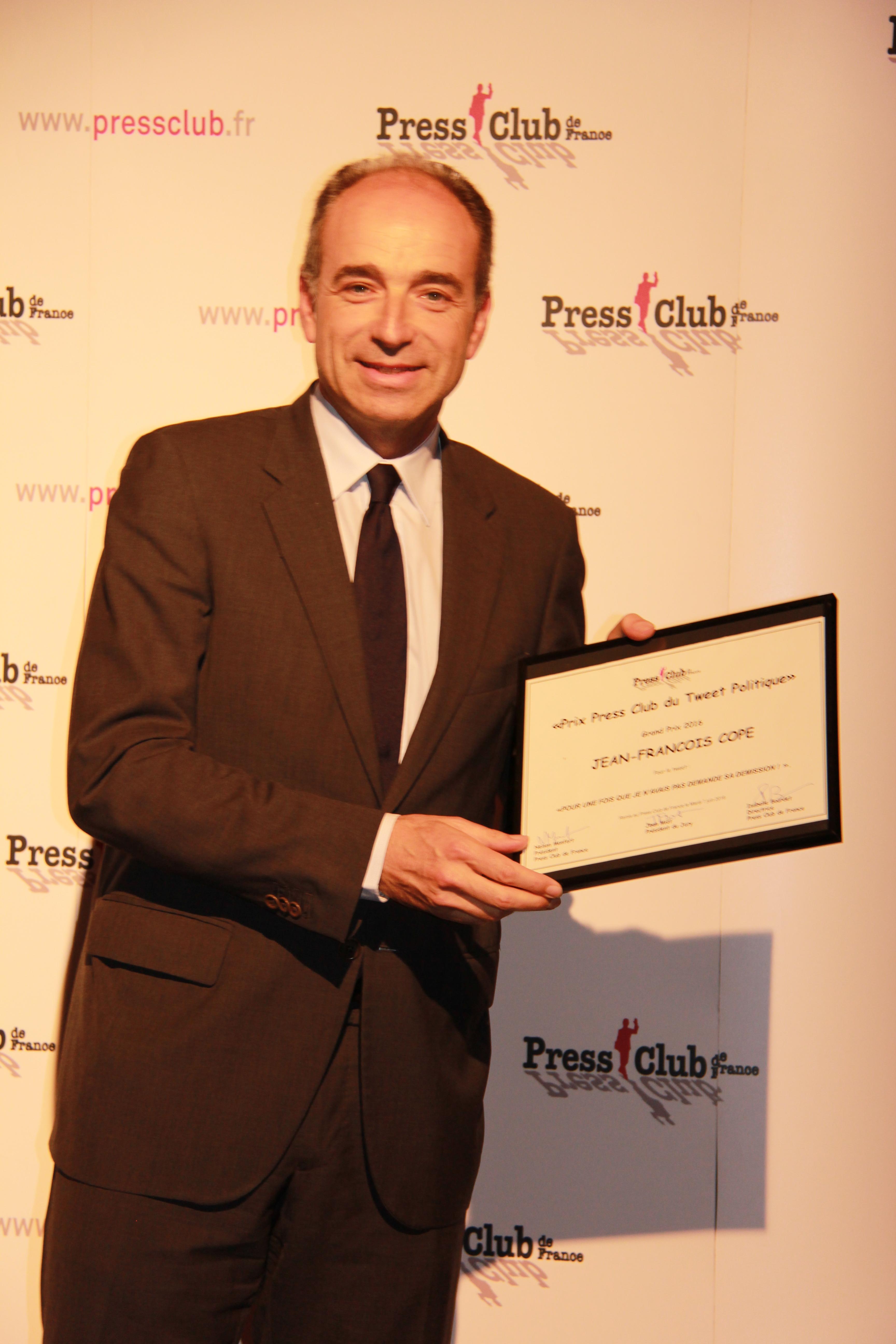 Jean-François Copé - Lauréat du Grand Prix Press Club du Tweet Politique 2016