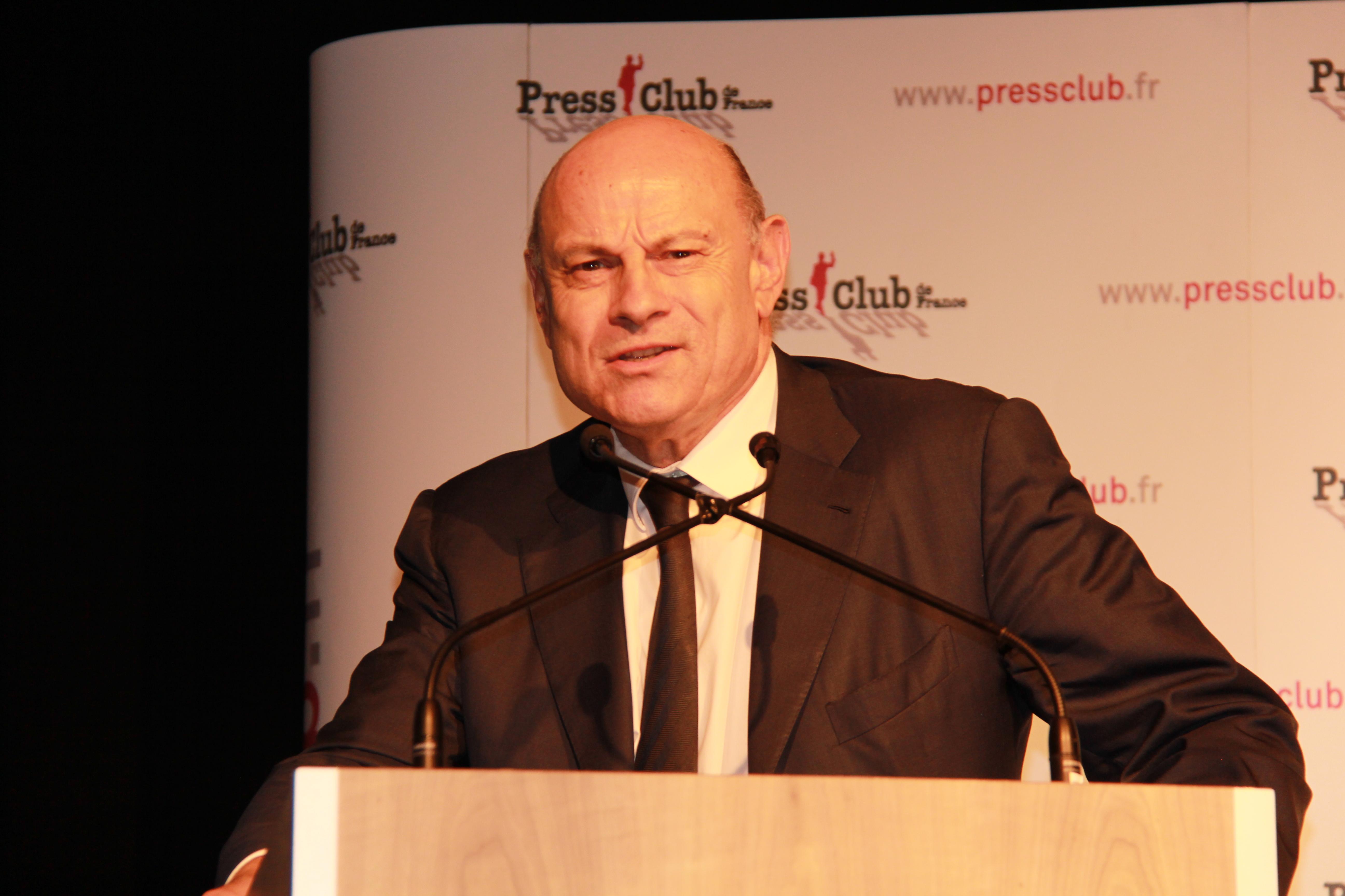 Jean-Marie Le Guen - Secrétaire d'Etat chargé des relations avec le Parlement lauréat du Prix Spécial du Jury du Prix Press Club, Humour et Politique