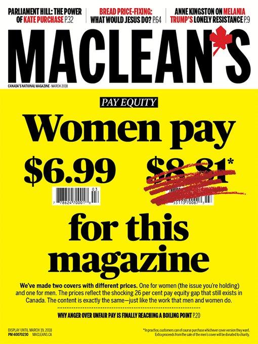 Canada : un magazine est vendu plus cher aux hommes !